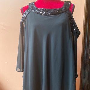 Beautiful beaded cap sleeve blouse
